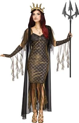 Königin der Meere Poseidon Damen-Kostüm Mythologie Göttin sexy - Königin Göttin Kostüm