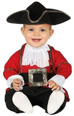 Baby Boys Girls Pirate Captain Halloween Book Day Fancy Dress Costume Outfit