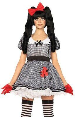 Damen-Kostüm Leg Avenue Aufziehpuppe Wind-Up Doll Halloween Zombie Puppe - Wind Up Puppe Kostüm