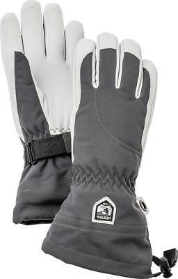 Hestra Heli Ski Female Gloves Grey/Off-white