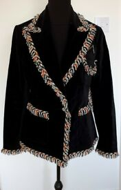 Daks of London Ladies' Black Velvet Blazer - size 14
