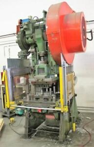 "60 ton Brown & Boggs OBI punch press, Mod. 17-1/2 J, 5"" str., 9-1/4"" sh, 32"" x 22-1/2"" BA, Air clutch, up to code"