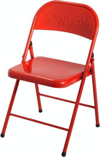Supreme Metal Folding Chair Red Box Logo FW20 New In Box Original 100% Authentic