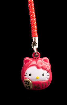 Jingle Jewel Of Phone Bag Cat Japanese Maneki Neko Charms rouge-FS7-264