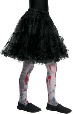 e Zombie Halloween Horror Kostüm Kleid Outfit Strumpfhose (Mädchen Zombie Outfit)
