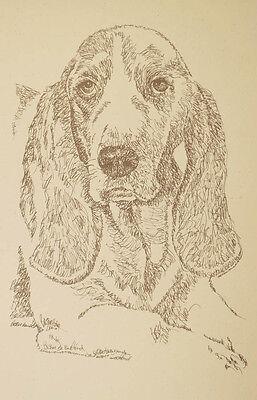BASSET HOUND DOG ART Portrait #36 Kline adds your dogs name free. GREAT GIFT Basset Hound Dog Portrait