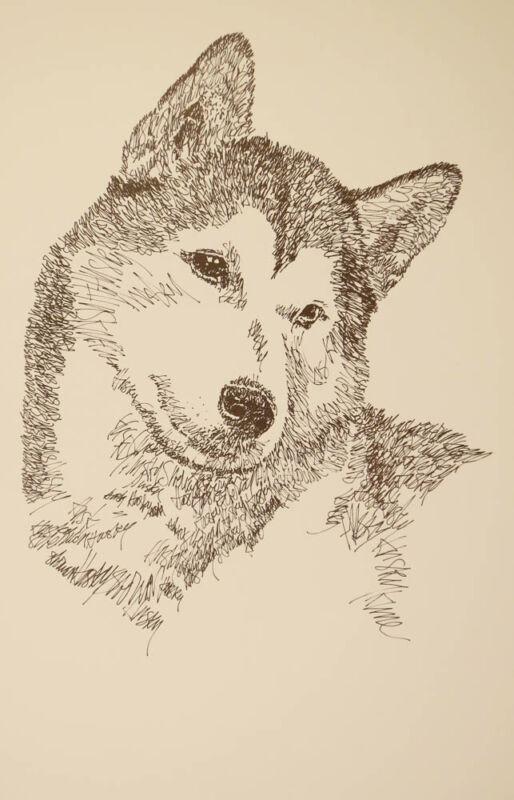 Siberian Husky Dog Art Portrait Print 57 Stephen Kline adds your dogs name free.