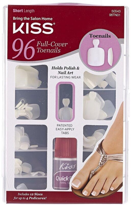 KISS Salon Results Toenail Kit, Full Cover, Short Length 1 ea
