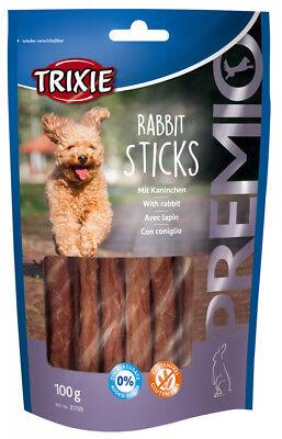 Pet Dog Treats Snack Food - Rabbit Sticks 95% Meat 0% Sugar - Trixie 100gr