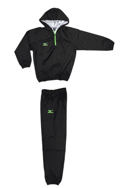 mizuno Sauna suit Prize fighter specifications Flash green  zipper x green logo