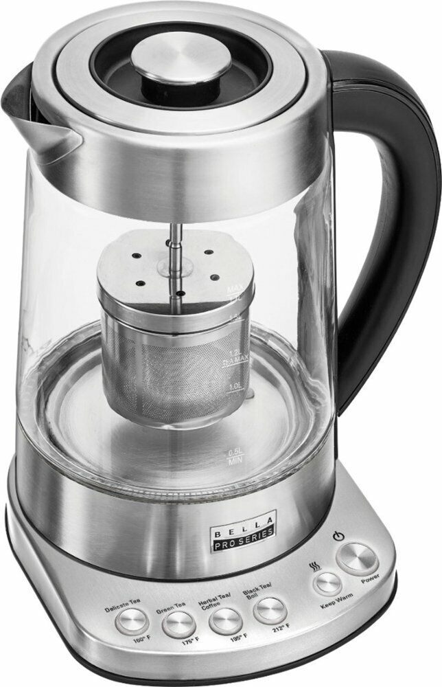 Bella - Pro Series 1.7L Electric Tea Maker/Kettle - Stainles