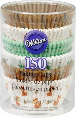 Wilton Woodland Animals Standard Cupcake Muffin Liner Party Baking Cups 150-Pack for sale  Shipping to India