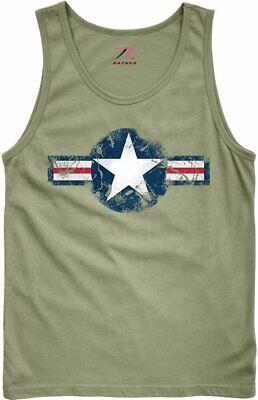 Olive Drab US Army Star Air Corp Tank Top (Air Corp Star)