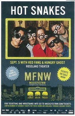 HOT SNAKES 2012 MFNW Gig POSTER Portland Oregon Musicfest NW Concert