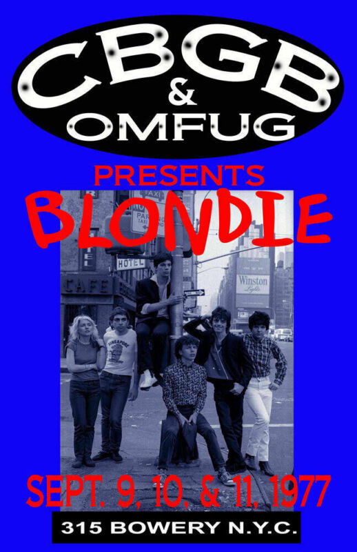BLONDIE REPLICA *CBGB* 1977 CONCERT POSTER