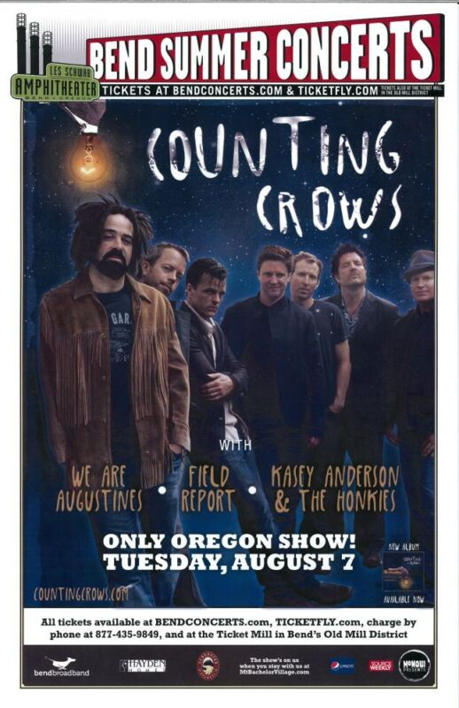 COUNTING CROWES 2012 Gig POSTER Bend Oregon Concert