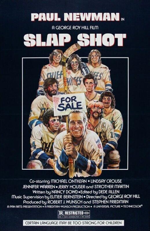 SLAP SHOT REPLICA 1977 MOVIE POSTER