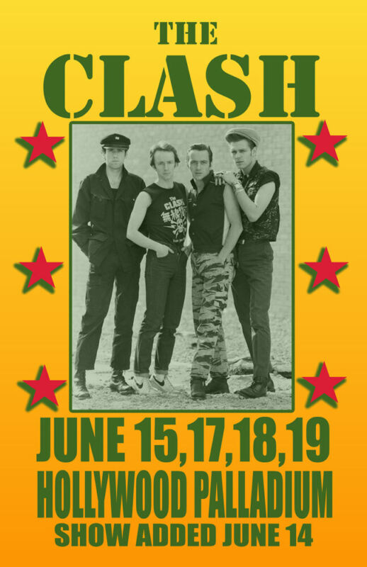 THE CLASH REPLICA 1982 CONCERT POSTER