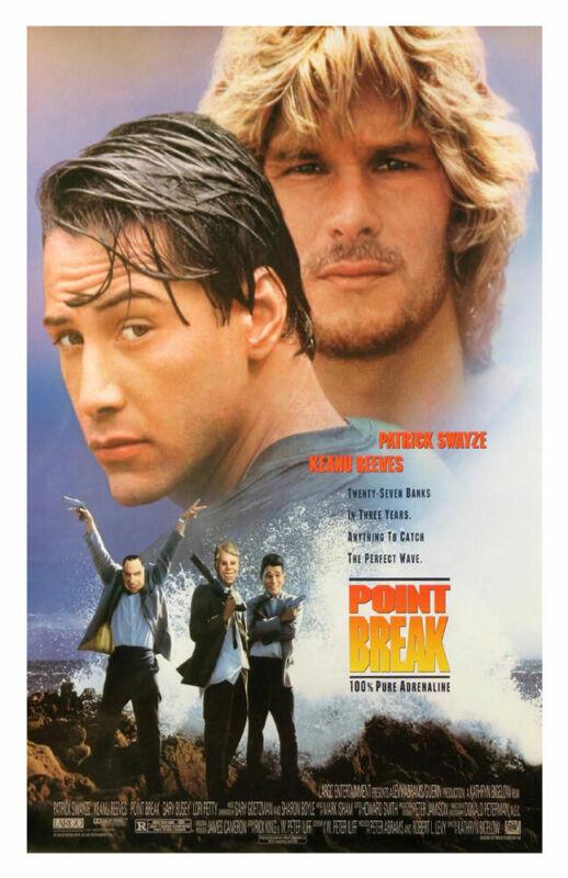 POINT BREAK REPLICA 1991 MOVIE POSTER