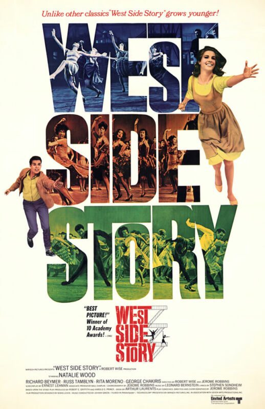 WEST SIDE STORY REPLICA 1961 MOVIE POSTER