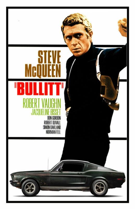 BULLITT REPLICA 1968 MOVIE POSTER