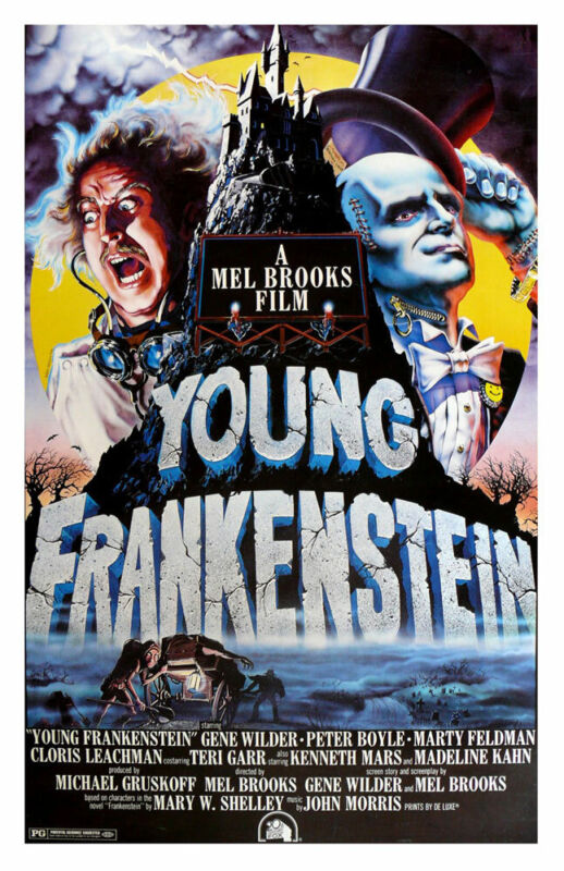 YOUNG FRANKENSTEIN REPLICA 1974 MOVIE POSTER