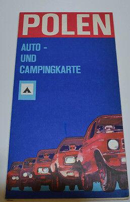 Poland Car And Campingkarte 1975 (AGK1438)