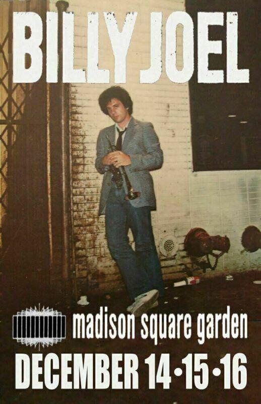 BILLY JOEL REPLICA *MADISON SQUARE GARDEN* 1978 CONCERT POSTER