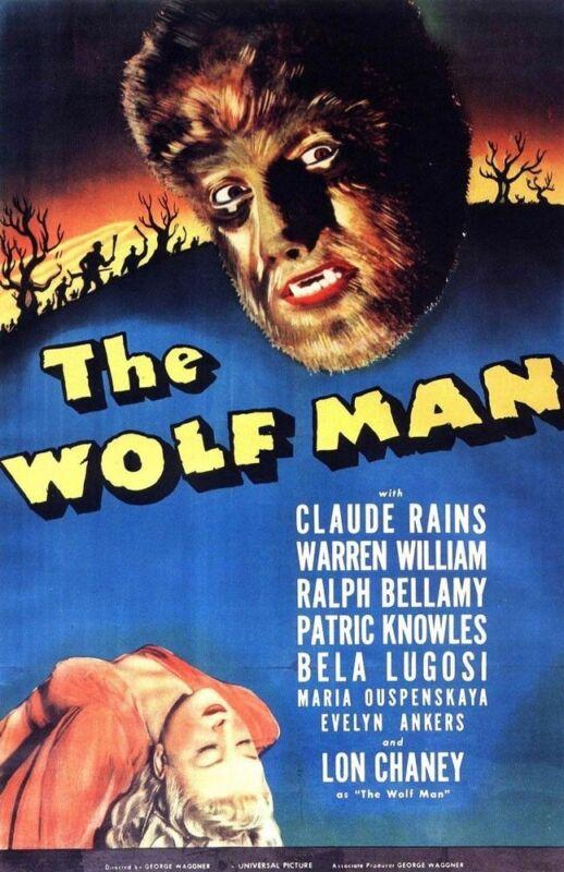 WOLF MAN 1941 REPLICA MOVIE POSTER