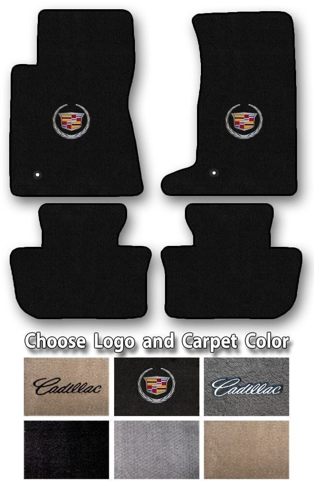 2003-2017 Cadillac CTS Custom Carpet Floor Mats - Choose Color & Official Logo Image