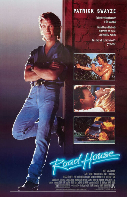 ROAD HOUSE REPLICA 1989 MOVIE POSTER