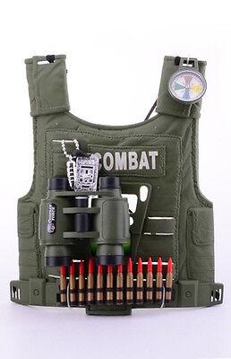 Army Forces Militär Accessoire Set für Kinder Jungen Soldat Kostüm Zubehör Armee (Militär Kostüm Zubehör)