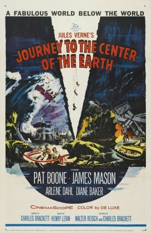 JOURNEY TO THE CENTER OF THE EARTH 1959 REPLICA MOVIE POSTER