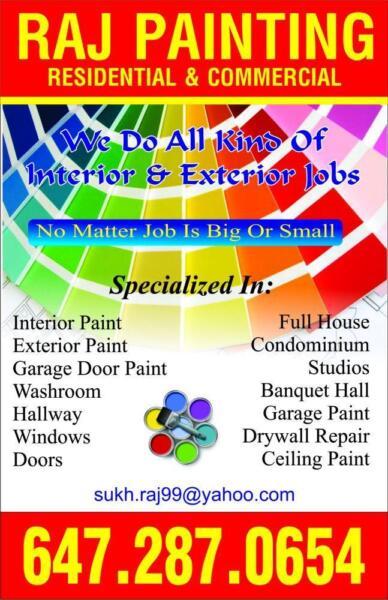 Raj Painting Amazing Rates We Also Do Renovation Painters Amp Painting Mississauga Peel Region Kijiji