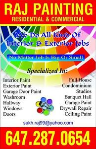 Raj painting!!amazing rates!! We also do renovation