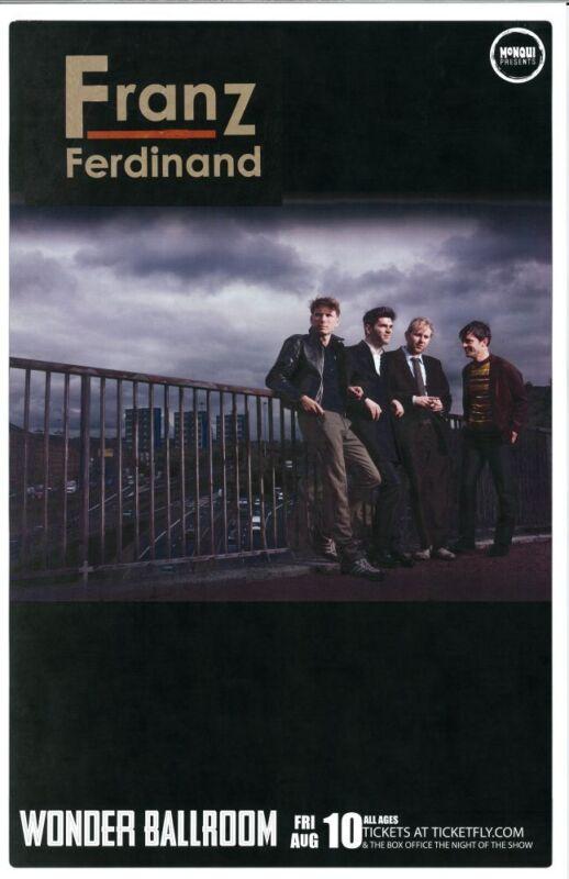 FRANZ FERDINAND 2012 Gig POSTER Portland Oregon Concert