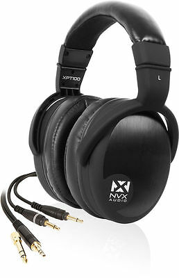 New! NVX Audio XPT100 Audiophile Over-Ear Pro Studio Monitor Headphones