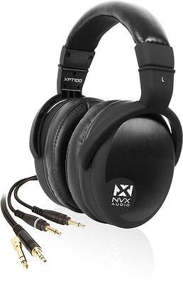 New! NVX Audio XPT100 Audiophile Over-Ear Pro Studio Monitor Headphones