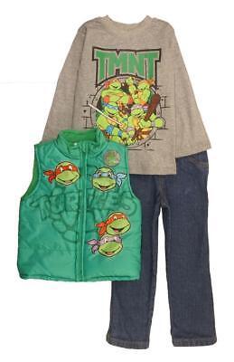 Teenage Mutant Ninja Turtles Kleinkind Jungen Weste 3 Tlg Hose Set Größe 2T 3T