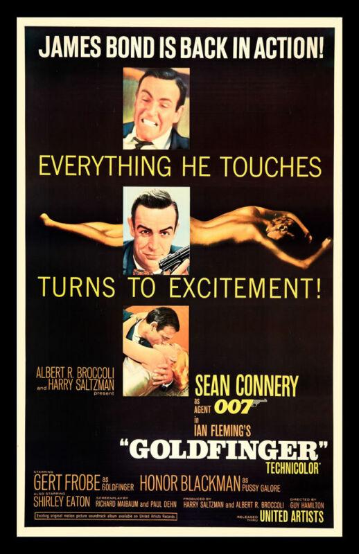 GOLDFINGER REPLICA 1965 MOVIE POSTER
