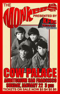 THE MONKEES REPLICA 1966 CONCERT POSTER