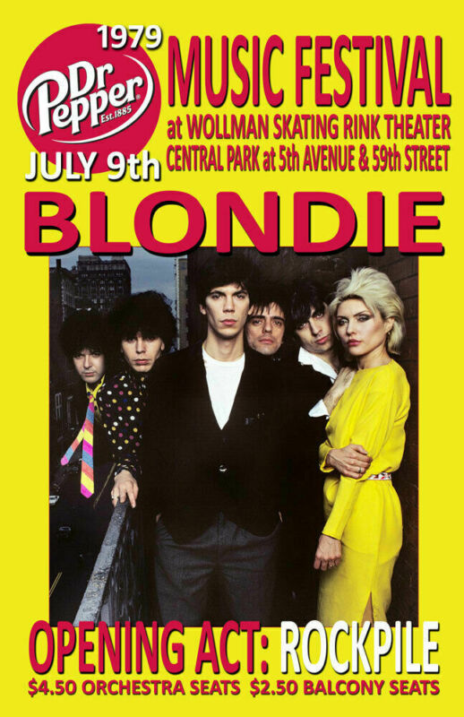 BLONDIE REPLICA 1979 CONCERT POSTER