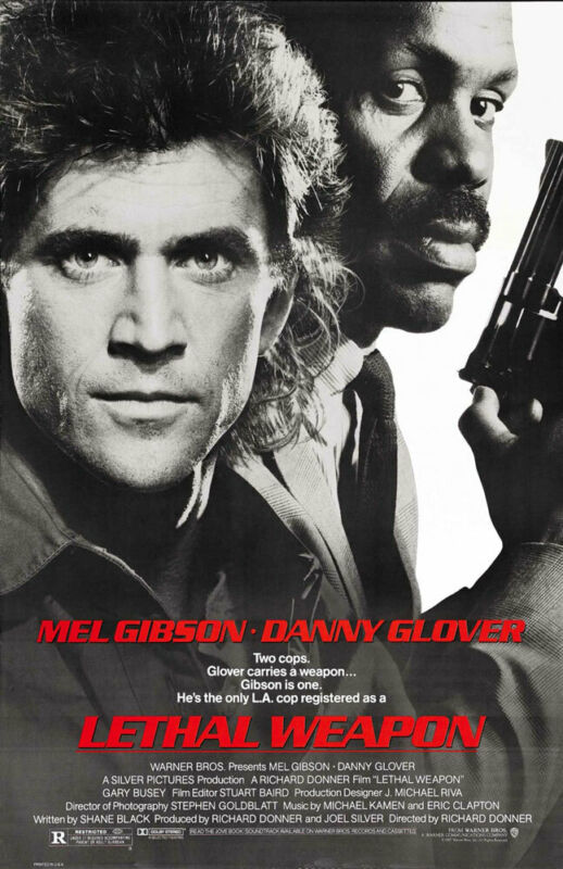 LETHAL WEAPON REPLICA 1987 MOVIE POSTER