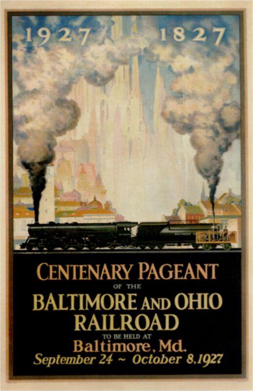 "Baltimore and Ohio Railroad-c.1927 - 24""x36"" Vintage Railroad Art"