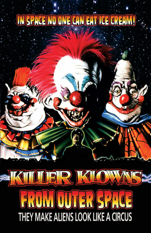 KILLER KLOWNS FROM OUTER SPACE REPLICA 1988 MOVIE POSTER
