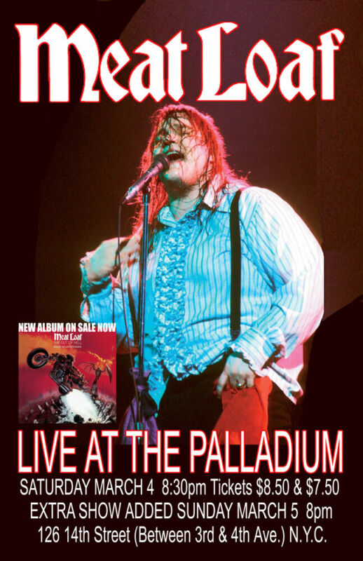MEAT LOAF REPLICA 1978 CONCERT POSTER