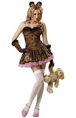 TEDDY GIRL TEDDY BEAR ADULT HALLOWEEN COSTUME WOMEN'S SIZE MEDIUM