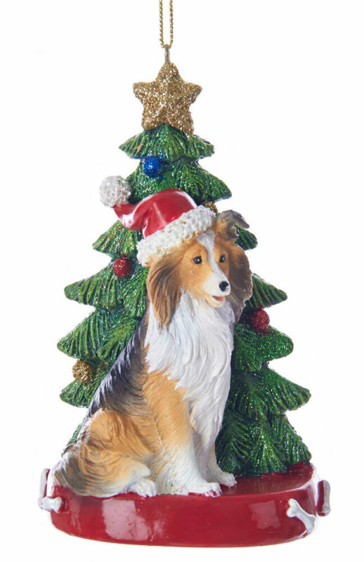 Sheltie Christmas Tree Ornament