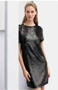 NEXT BLACK SEQUIN SHIFT DRESS SZE 6, 8,10, XMAS PARTY DRESS RRP£50 CLEARANCE
