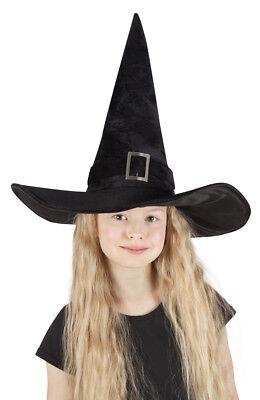Kinder schwarzer Samt-Hexenhut Schnalle Hexe Hut Halloween